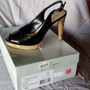 Jessica Simpson sling back heels